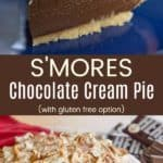Smores Pudding Pie Recipe Pinterest Collage