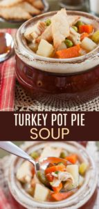 Gluten Free Turkey Pot Pie Soup Recipe Pinterest Collage