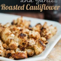 Balsamic and Garlic Roasted Cauliflower
