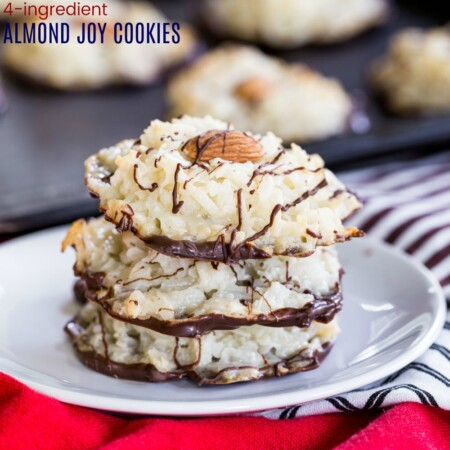Almond Joy Macaroons Recipe Image with Title