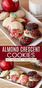 Almond Crescent Cookies Pinterest Collage