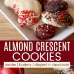 Almond Crescents Pinterest Collage