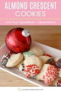 Almond Crescent Cookie Recipe Pin Template Pink