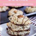 Almond Joy Macaroon Cookies Pin Template Pink