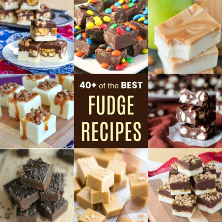 Square collage of the best fudge recipes