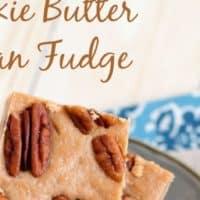 Cookie Butter Pecan Fudge