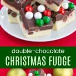 Gluten Free Christmas Fudge Recipe Pinterest Collage