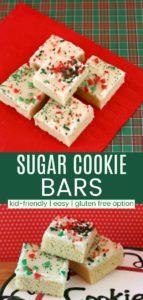 Sugar Cookie Bars Pinterest Collage