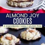 Almond Joy Cookies Recipe Pinterest Collage
