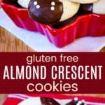Gluten Free Almond Crescents Pinterest Collage