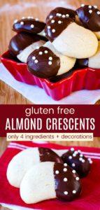 Gluten Free Almond Crescent Cookies Pinterest Collage