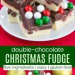 Double Chocolate Christmas Fudge Recipe Pinterest Collage