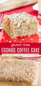 Gluten Free Eggnog Coffee Cake Recipe Pinterest Collage