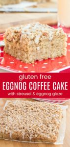 Gluten Free Coffee Cake with Eggnog Pinterest Collage