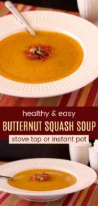 Gluten Free Butternut Squash Soup Recipe Pinterest Collage