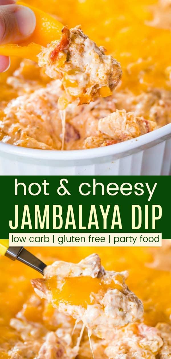 Chicken Shrimp Cajun Jambalaya Dip Recipe Pinterest Collage