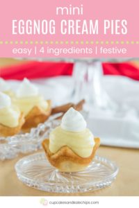 Eggnog Mini Cream Pie Recipe Pin Template Pink