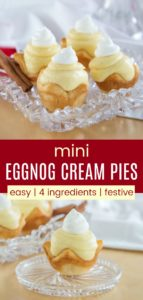 Eggnog Mini Cream Pies Pinterest Collage