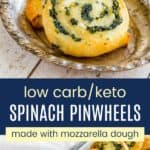 Gluten Free Spinach Feta Pinwheels Pinterest Collage