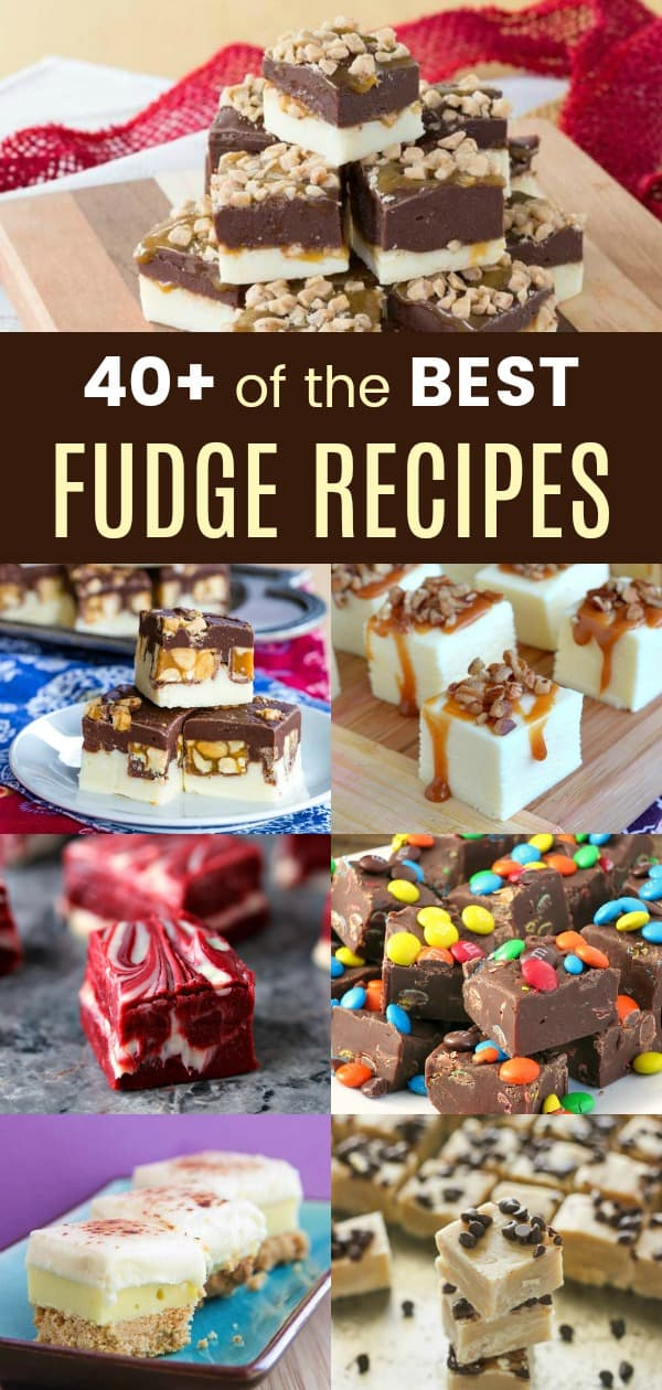 40+ of the Best Fudge Recipes pinterest collage
