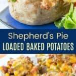 Shepherds Pie Stuffed Baked Potatoes Recipe Pinterest Collage