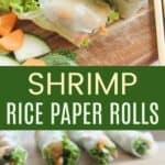 Shrimp Summer Rolls Recipe Pinterest Collage