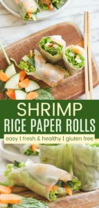 Shrimp Rice Paper Rolls Pinterest Collage