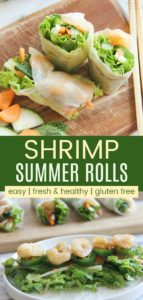 Shrimp Rice Paper Rolls Recipe Pinterest Collage