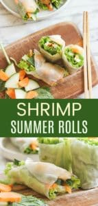 Shrimp Summer Rolls Pinterest Collage