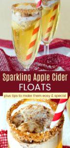 Sparkling Apple Cider Ice Cream Floats Pinterest Collage