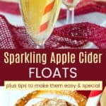 Sparkling Apple Cider Ice Cream Floats Pinterest Collage