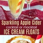Sparkling Apple Cider Cocktail or Mocktail Floats Pinterest Collage