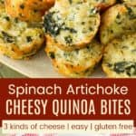 Cheesy Quinoa Spinach Artichoke Bites Pinterest Collage