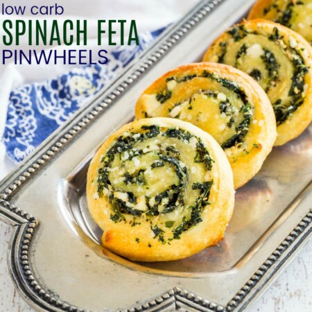 Low Carb Spinach Feta Pinwheels Recipe Featured Image