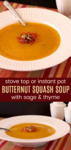 Healthy Easy Butternut Squash Soup Recipe Pinterest Collage
