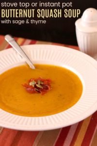 Healthy Butternut Squash Soup Recipe image with title