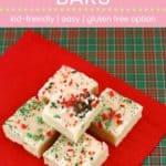 Sugar Cookie Bar Recipe Pin Template Pink