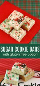 Easy Sugar Cookie Bar Recipe Pinterest Collage