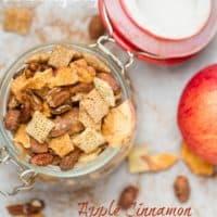4 Ingredient Apple Cinnamon Snack Mix
