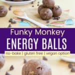 Funky Monkey No Bake Energy Ball Recipe Pinterest Collage