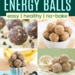 No-Bake Energy Balls and Bites Pinterest Collage