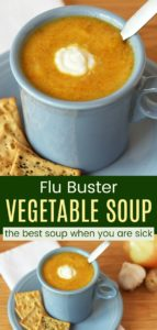 Healthy Creamy Vegetable Soup Pinterest Collage