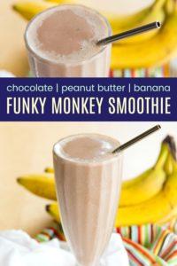 Funky Monkey Smoothie Recipe Pinterest Collage