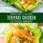 Healthy Chicken Teriyaki Lettuce Wraps Recipe Pinterest Collage