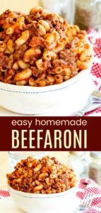 Homemade Beefaroni Pinterest Collage