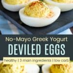 No Mayo Deviled Eggs Pinterest Collage