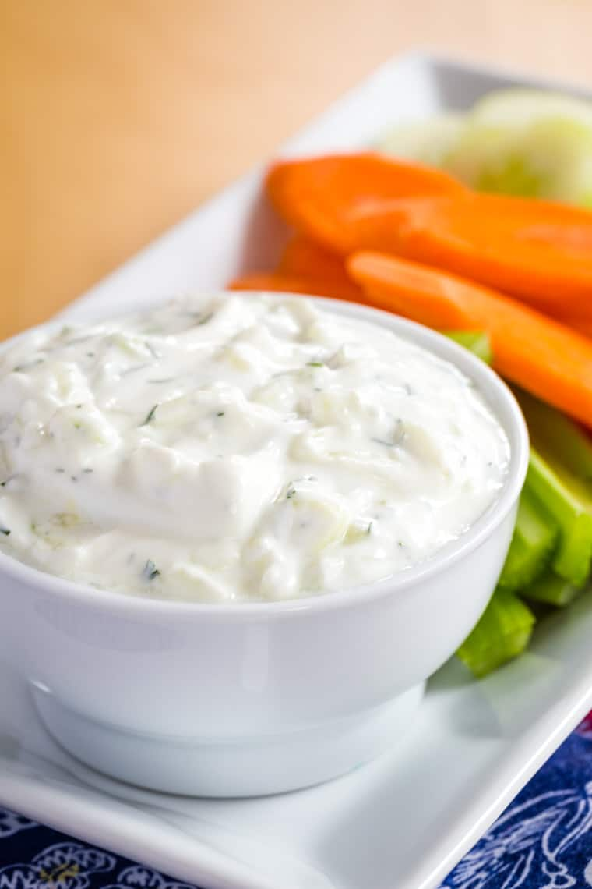 Tzatziki Yogurt Dip for veggies