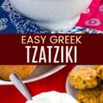 Easy Homemade Greek Tzatziki Sauce Pinterest Collage