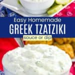 Healthy Tzatziki Greek Yogurt Dip Pinterest Collage