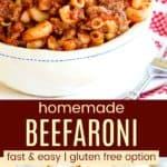 Easy Beefaroni Recipe Pinterest Collage